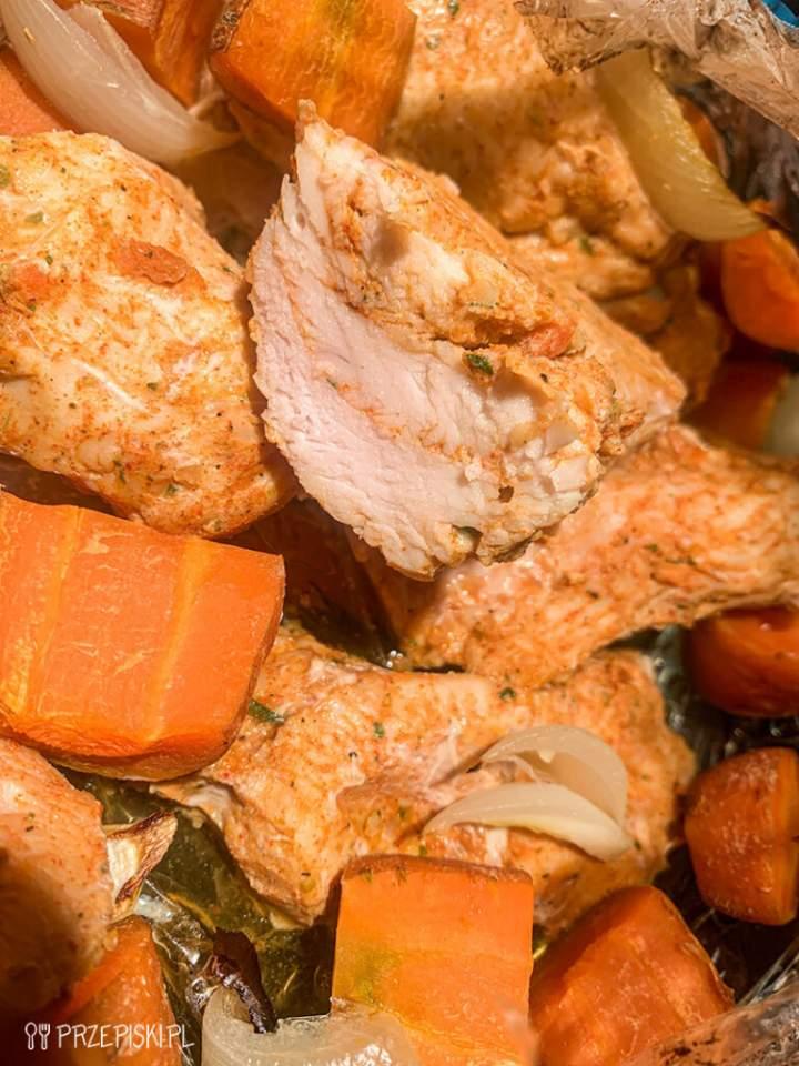 Kurczak z Rękawa w Sosie Musztardowym