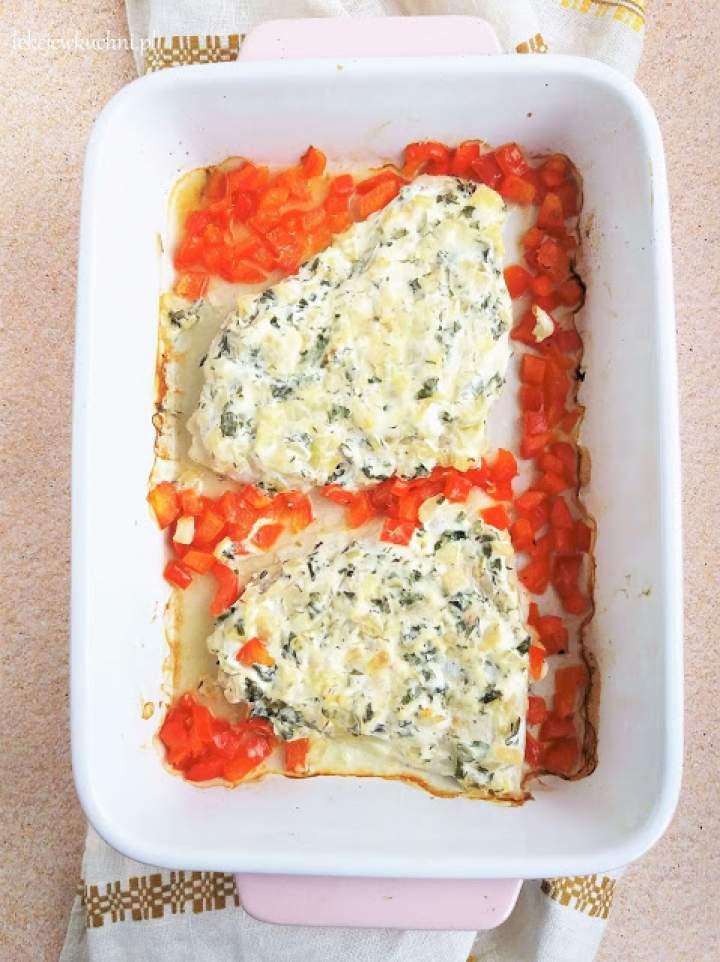 Ryba zapiekana w śmietanie / Sour Cream Baked Fish
