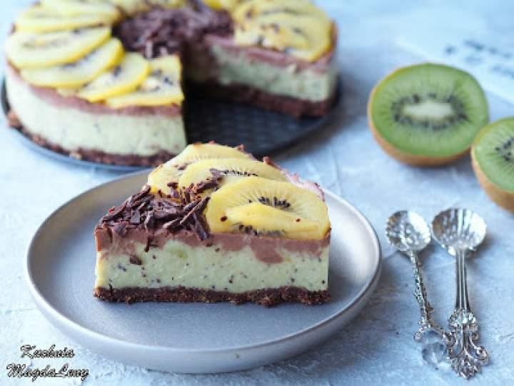 Ciasto kiwi z czekoladą (bez pieczenia)