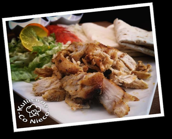 Kebab Drobiowy z Plackami Tortilla, Warzywami i z Guacamole (*SERIA – KOLOROWE MICHY*)