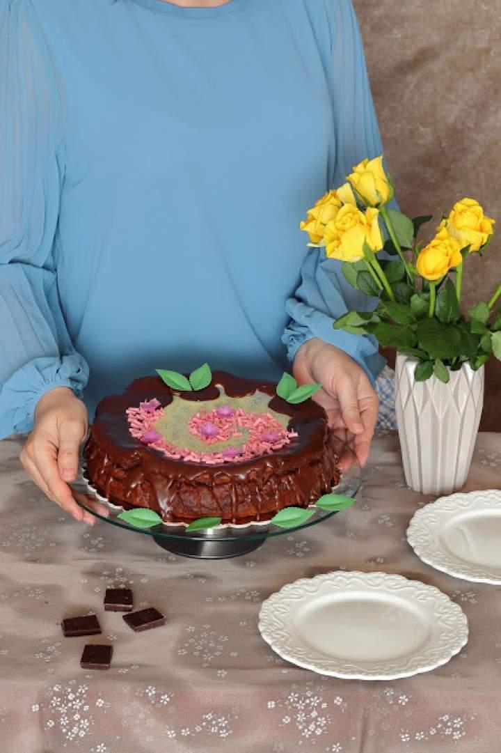 Sernik podwójnie czekoladowy