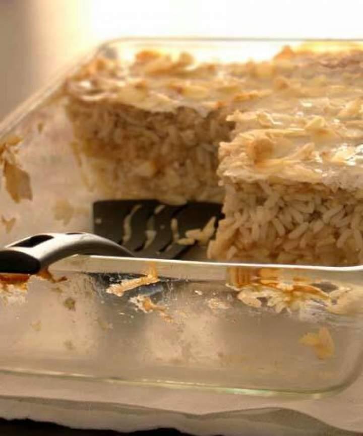 Zapiekanka ryżowa z jabłkami i cynamonem
