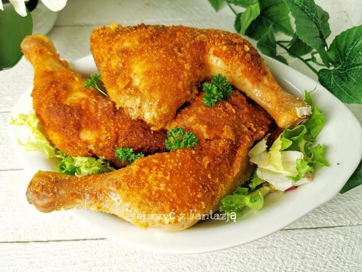 Panierowane pieczone ćwiartki kurczaka