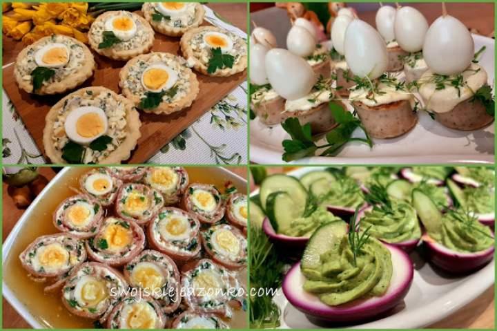 Śniadanie wielkanocne -część 2 –  proste przekąski z jajkiem