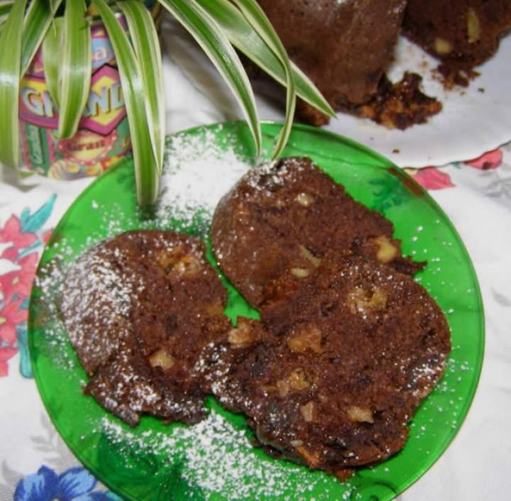 łatwa, smaczna babka kakaowa bez miksera+jabłko,ptasie mleczko…
