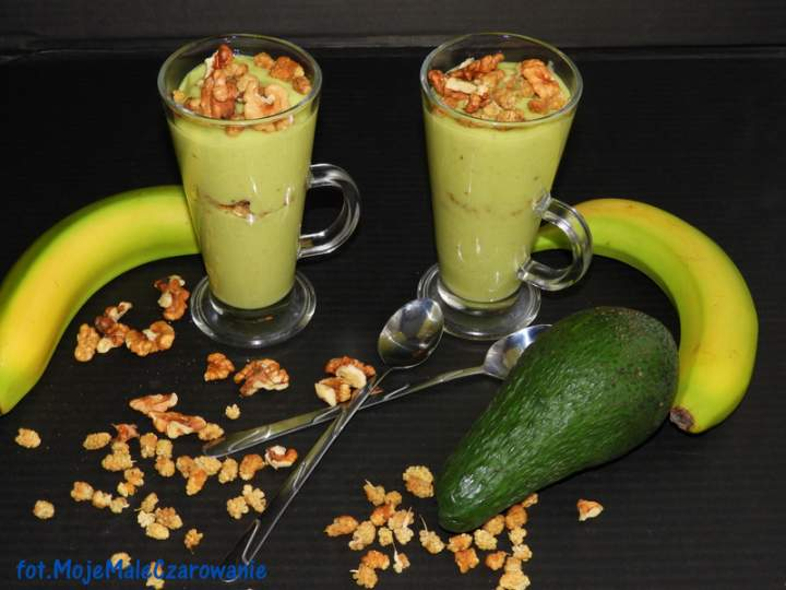 Bananowy mus z awokado
