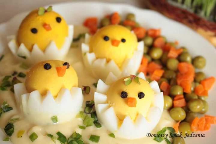 wielkanocne jaja kurczaczki w majonezie