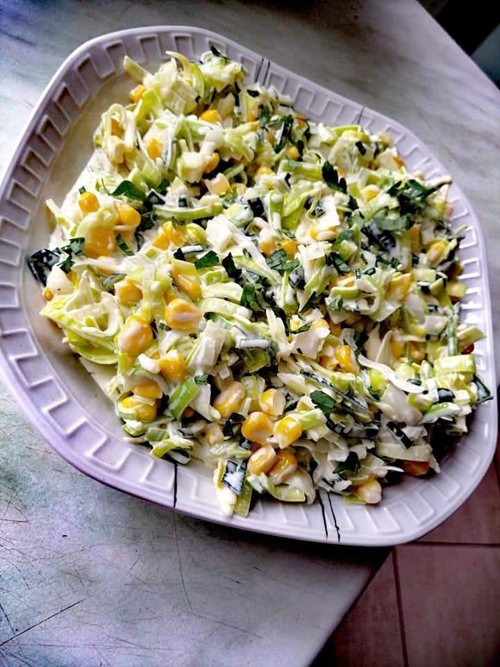 Sałatka porowa z majonezem