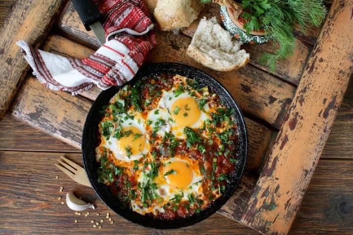 Przepisy z Diety – Zielona szakszuka