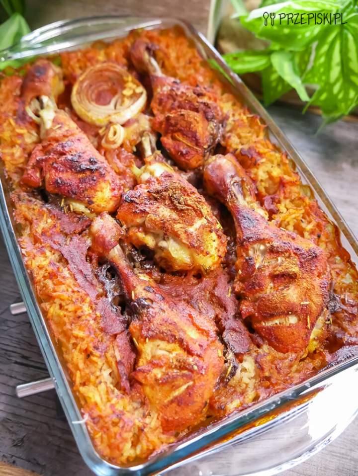 Pałki Kurczaka Pieczone na Ryżu