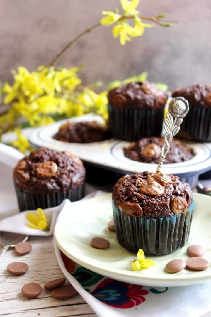 Czekoladowe babeczki brownie
