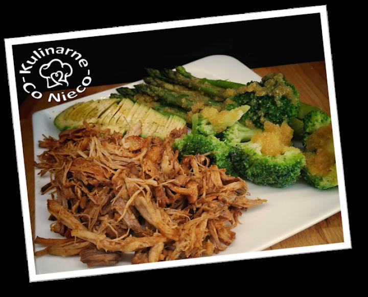 Szarpana Wieprzowina w Sosie BBQ z Warzywami (*DIETA KETO*)