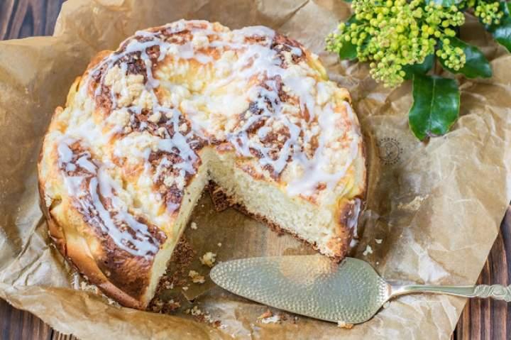 Ciasto Drożdżowe Pod Pierzynką Serową
