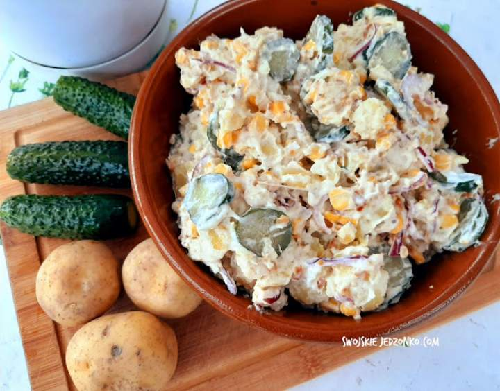 Sałatka do grilla z młodych ziemniaków