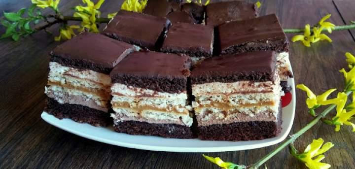 Ciasto kakaowa krówka