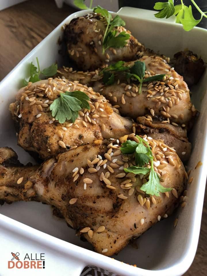Kurczak pieczony w sezamie