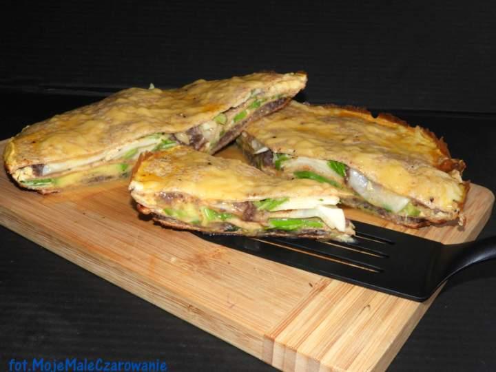 Przekładaniec – trójkąty z tortilli