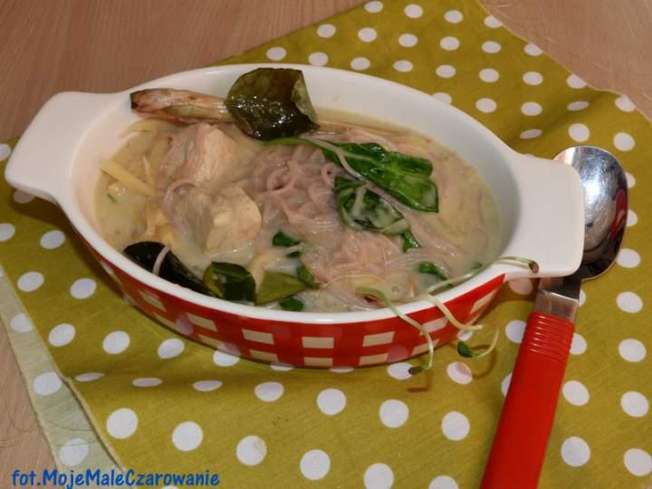 Zupa – zielone curry z kurczakiem