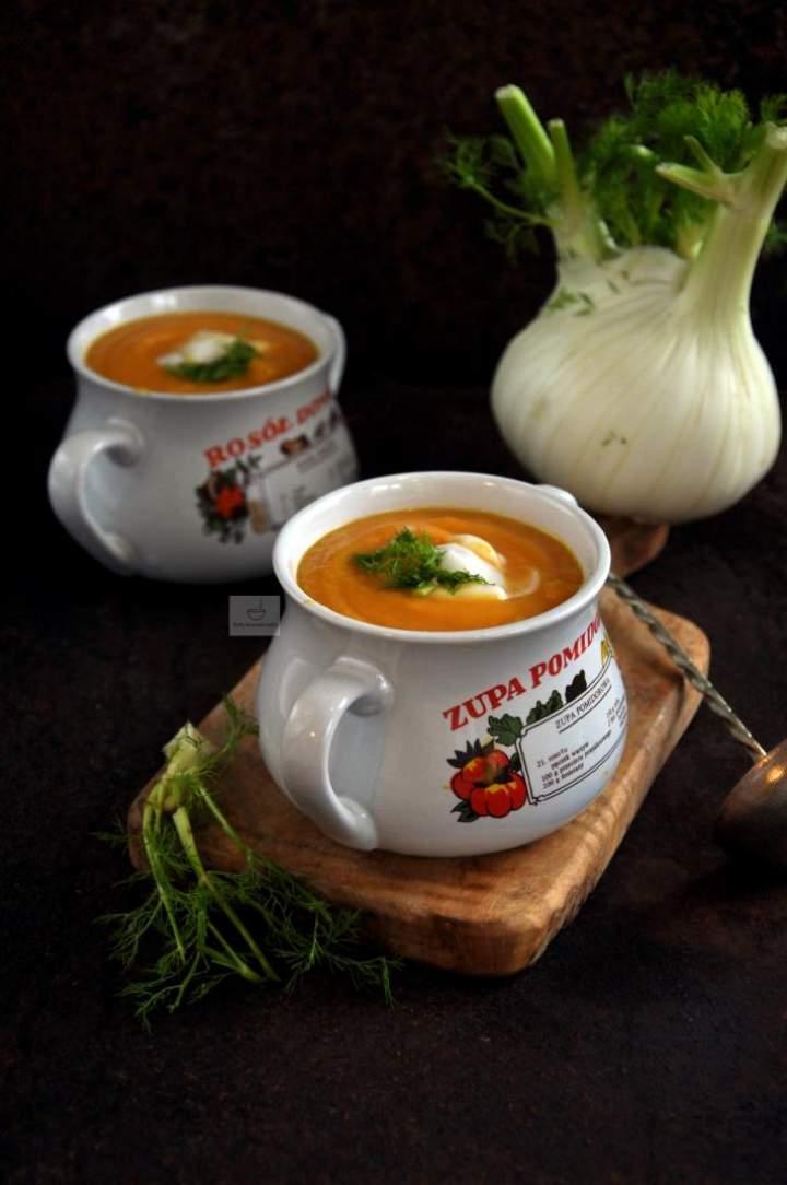 Zupa krem z marchewki i fenkuła (2)