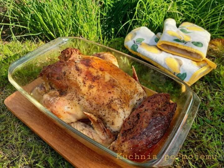Kurczak po polsku i kiszka wątrobiana. Obiad faszerowany miłością.
