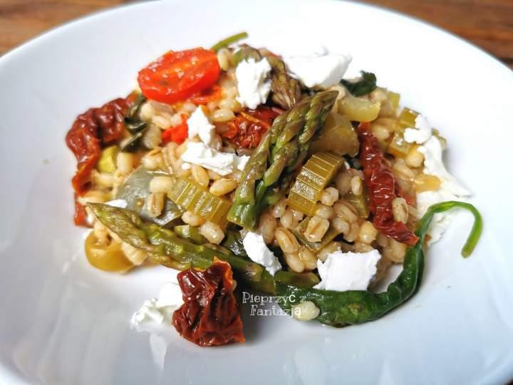 Pęczak z warzywami (pęczotto)