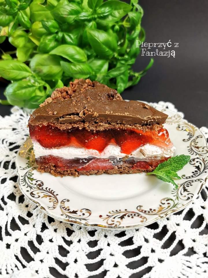 Ciasto truskawkowo – czekoladowe