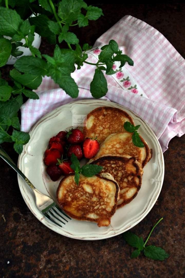 Pancakes orkiszowo-migdałowe