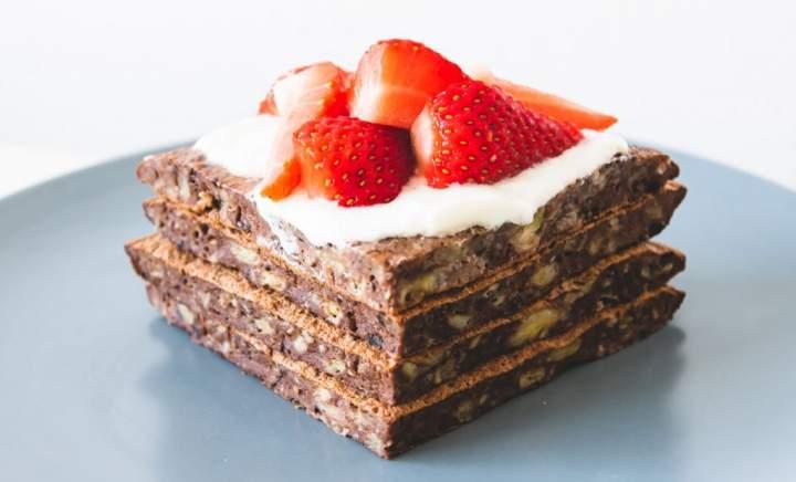 Omlet czekoladowy z bananem – fit
