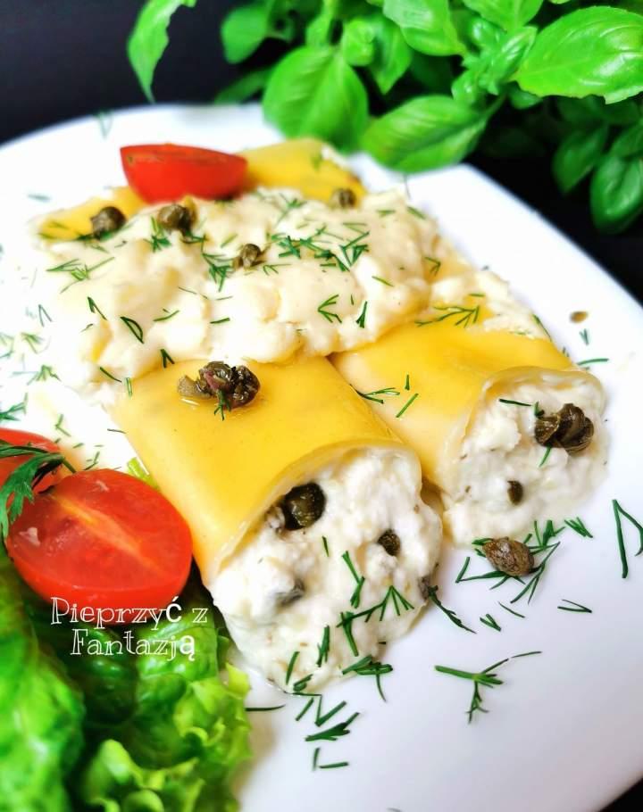 Canelloni z serem i kaparami