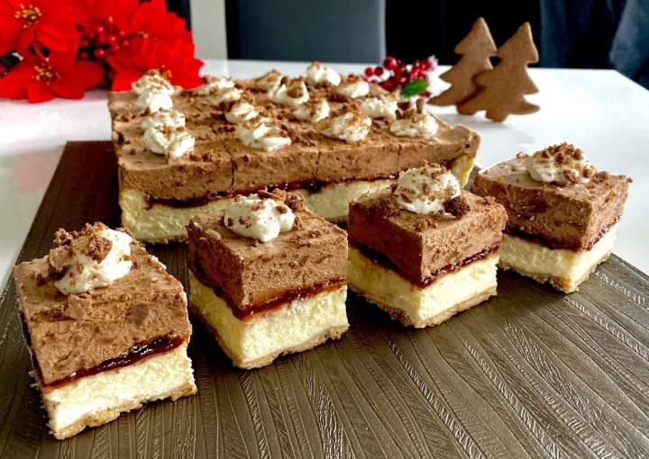 Sernik z musem czekoladowo-pierniczkowym
