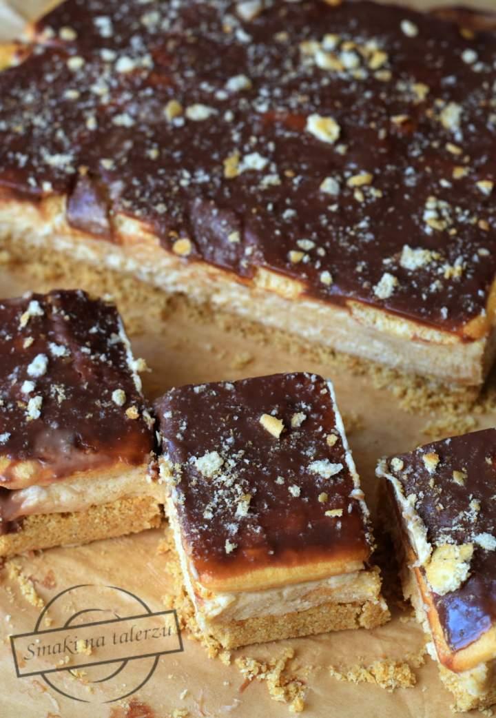 Ciasto bez pieczenia – z mascarpone i masłem orzechowym