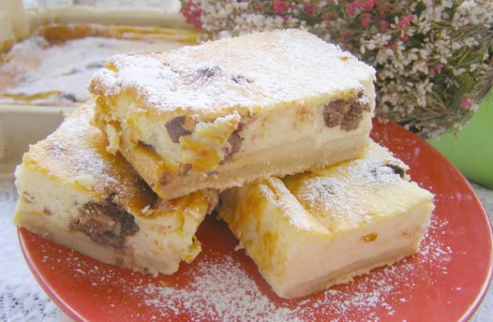 sernik pieczony bez tłuszczu z kulkami wafelkowymi w czekoladzie…