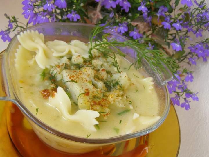 lekka zupa kalafiorowa na maśle z makaronem…