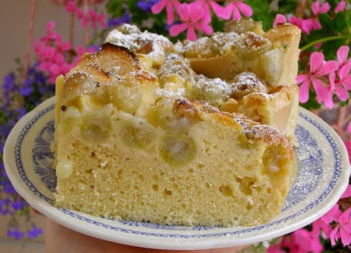łatwe ciasto kokosowe agrestowo-jabłkowe…