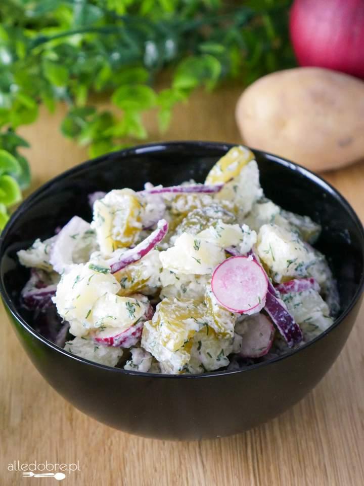 Sałatka z gotowanych ziemniaków