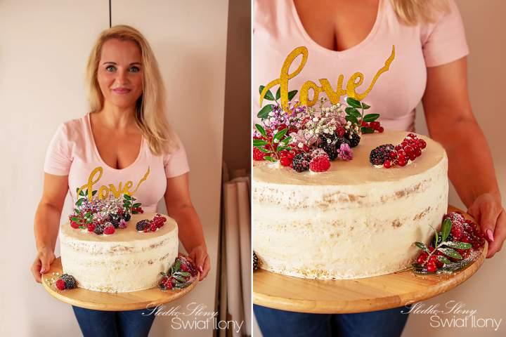 RUSTYKALNY TORT ŚLUBNY NAKED CAKE