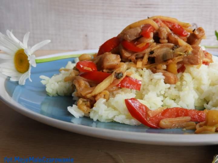 Schab po chińsku z ryżem