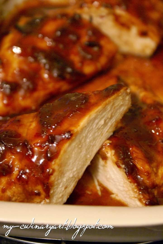 Filety z kurczaka w śliwkowo-miodowej glazurze