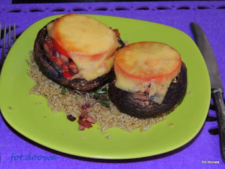 Portobello nadziane quinoą