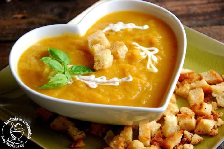 Zupa- krem z pieczonej dyni