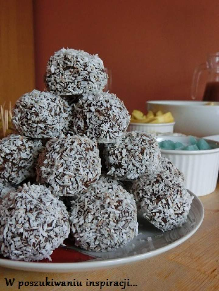 Trufle czekoladowe z kokosem