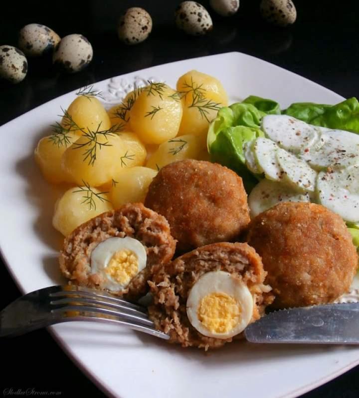 Kotlety Mielone z Jajeczkami Przepiórczymi