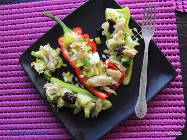 Sałatka z dorsza na papryce