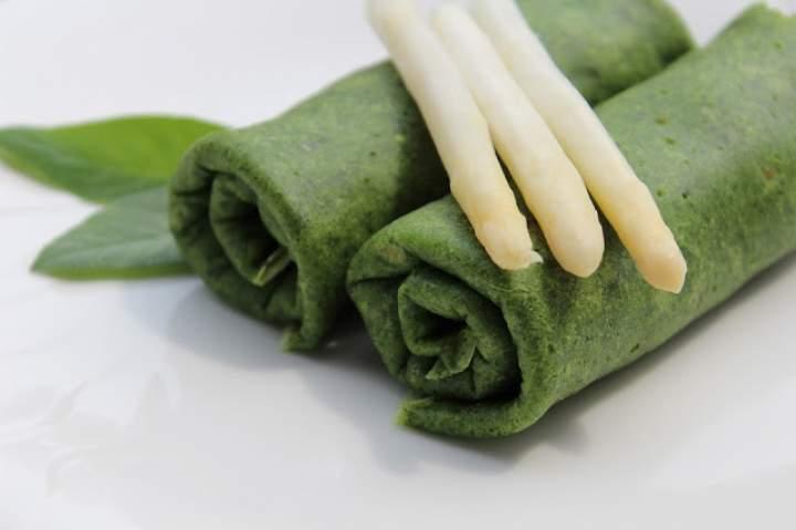 Zielone krokiety z pieczarkowym farszem.