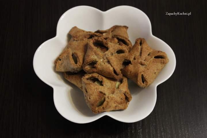 Serowo-jabłkowe ciasteczka (bez cukru, bez jaj)