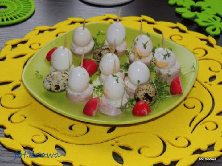 Koreczki z białej kiełbasy