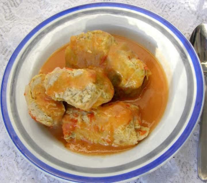 szybkowar-gołąbki drobiowe we włoskiej kapuście ze świeżymi pomidorami…