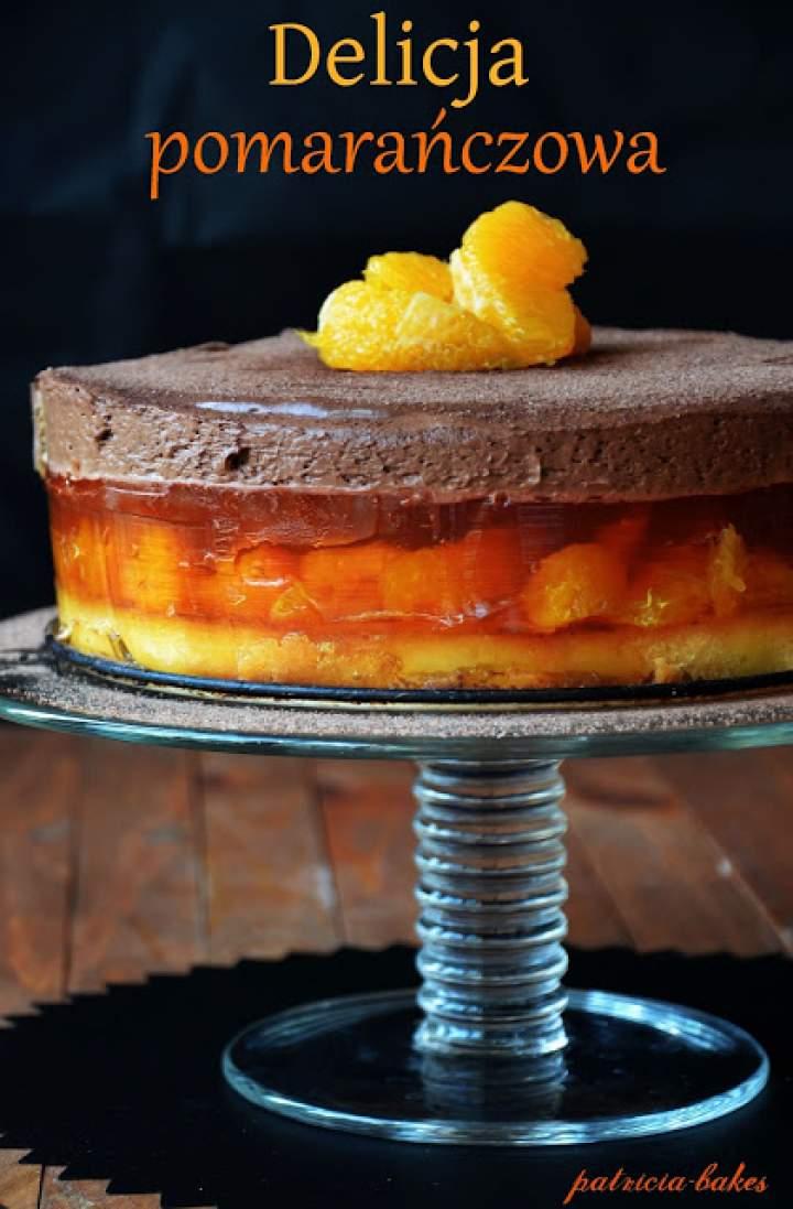 """Ciasto """"Delicja pomarańczowa"""""""