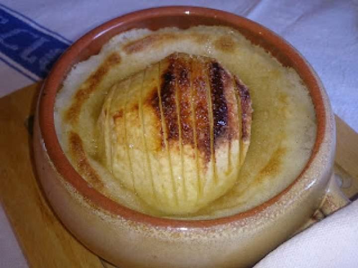 jabłko zapieczone z kaszą manną