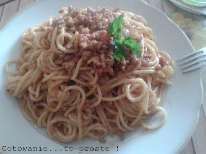 Domowe Spaghetti Bolognese